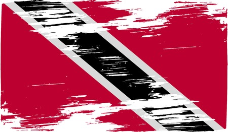 trinidad and tobago: Flag of Trinidad and Tobago with old texture. Vector illustration