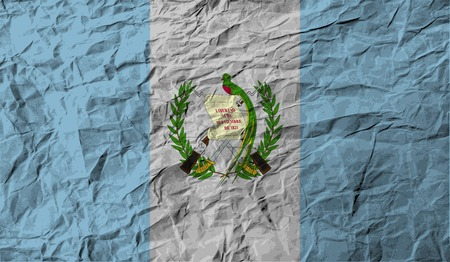 guatemala: Flag of Guatemala with old texture. Vector illustration