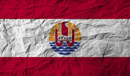 french flag: Flag of french polynesia with old texture. Vector illustration