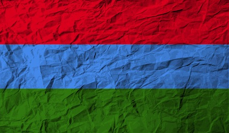 northwestern: Flag of Karelia with old texture. Vector illustration Illustration