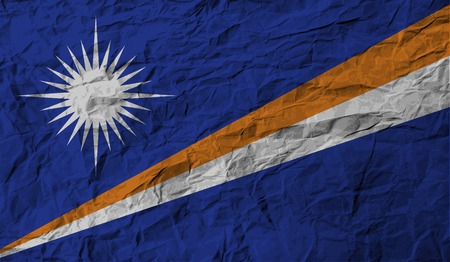 marshall: Flag of Marshall Islands with old texture. Vector illustration