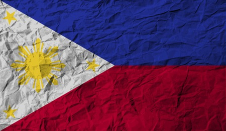 Flag of Philippiines with old texture. Vector illustration Illustration