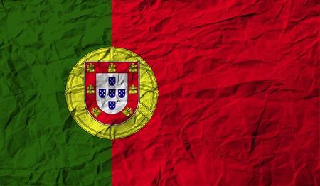 bandera de portugal: Bandera de Portugal con textura de edad. Ilustración vectorial Vectores