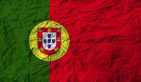 portugal flag: Flag of Portugal with old texture. Vector illustration