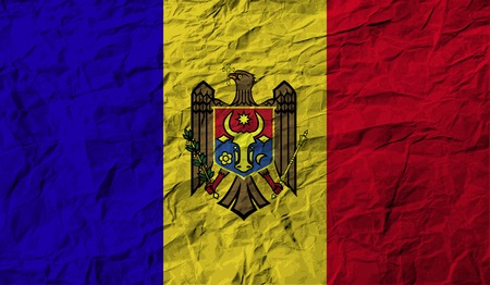 moldovan: Flag of Moldova with old texture. Vector illustration