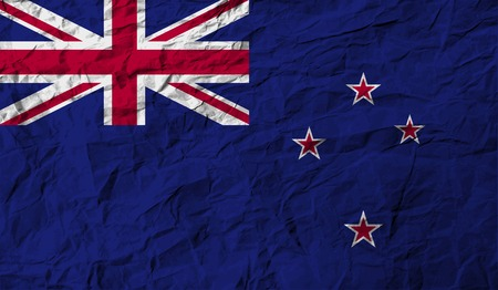 bandera de nueva zelanda: Bandera de Nueva Zelanda con textura de edad. Ilustraci�n vectorial Vectores