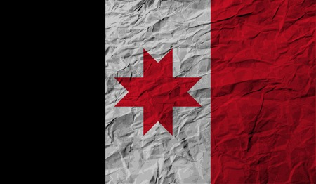 Flag of Udmurtia with old texture. Vector illustration Vector