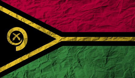 vanuatu: Flag of Vanuatu with old texture. Vector illustration Illustration