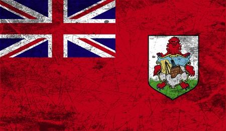 bermuda: Flag of Bermuda with old texture. Vector illustration Illustration