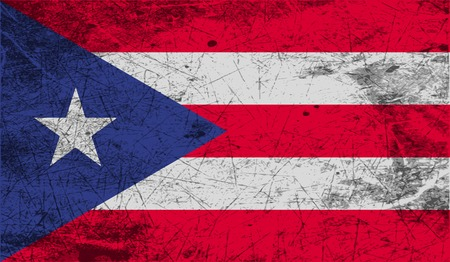 puerto rico: Flag of Puerto Rico with old texture. Vector illustration Illustration