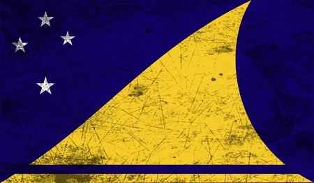 tokelau: Flag of Tokelau with old texture. Vector illustration Illustration