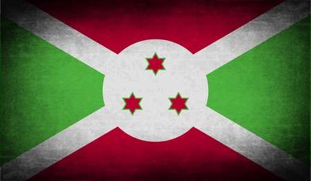 correctly: Flag of Burundi with old texture. Vector illustration