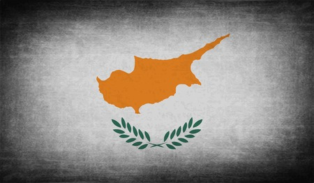 proportional: Flag of Cyprus with old texture. Vector illustration Illustration