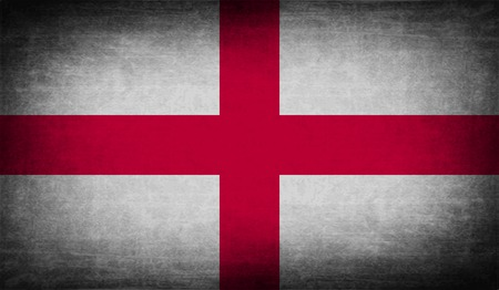 territorial: Flag of England with old texture. Vector illustration
