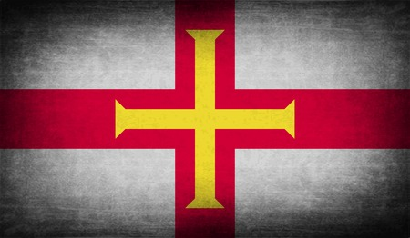 guernsey: Flag of Guernsey with old texture. Vector illustration Illustration