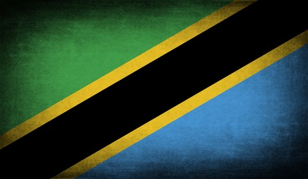 Flag of Tanzania with old texture. Vector illustration Vector
