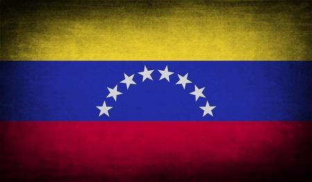 venezuelan: Bandera de Venezuela con textura de edad. Ilustraci�n vectorial