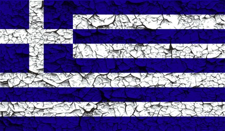 greek islands: Flag of Greece with old texture. Vector illustration Illustration