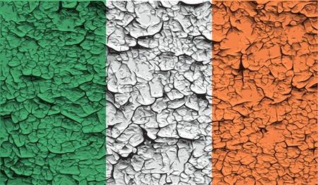 irish banners: Flag of Ireland with old texture. Vector illustration Illustration