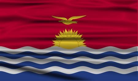 kiribati: Flag of Kiribati with old texture. Vector illustration