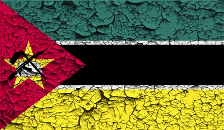 mozambique: Flag of Mozambique with old texture. Vector illustration Illustration