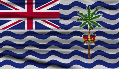 indian ocean: Flag of British Indian Ocean Territory with old texture. Vector illustration Illustration