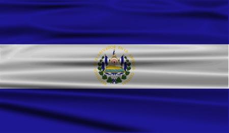 bandera de el salvador: Bandera de El Salvador con textura de edad. Ilustración vectorial