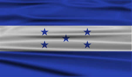 Flag of Honduras with old texture. Vector illustration Çizim