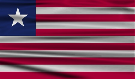 Flag of Liberia with old texture. Vector illustration Vector