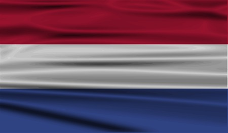 constitutional: Flag of Netherlands with old texture. Vector illustration