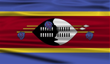 swaziland: Flag of Swaziland with old texture. Vector illustration
