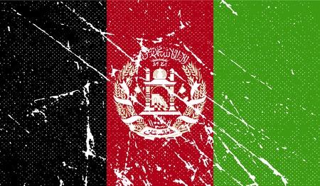 afghane: Flagge von Afghanistan mit alten Textur. Vektor-Illustration Illustration