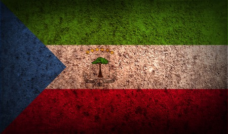 equatorial: Flag of Equatorial Guinea with old texture. Vector illustration