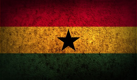 correctly: Flag of Ghana with old texture. Vector illustration Illustration