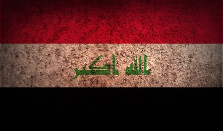militant: Flag of Iraq with old texture. Vector illustration Illustration