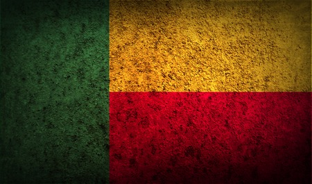 benin: Flag of Benin with old texture. Vector illustration Illustration