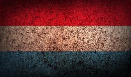 Vlag van Luxemburg met oude textuur. Vector illustratie