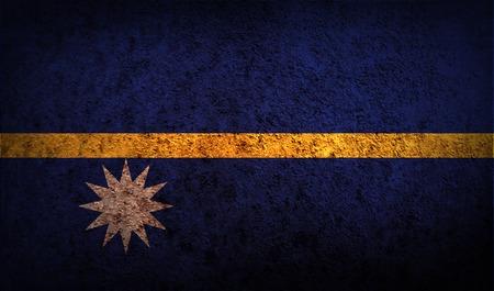 nauru: Flag of Nauru with old texture. Vector illustration