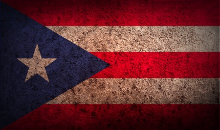rico: Flag of Puerto Rico with old texture. Vector illustration Illustration