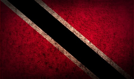trinidadian: Flag of Trinidad and Tobago with old texture. Vector illustration
