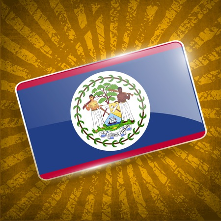 belize: Flag of Belize with old texture.
