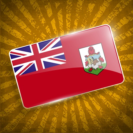 bermuda: Flag of Bermuda with old texture.  Illustration