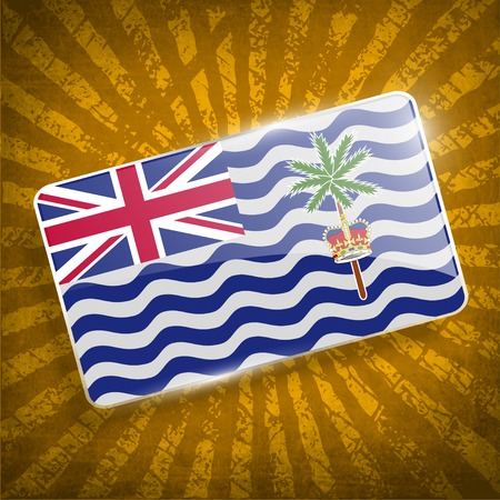 indian ocean: Flag of British Indian Ocean Territory with old texture.