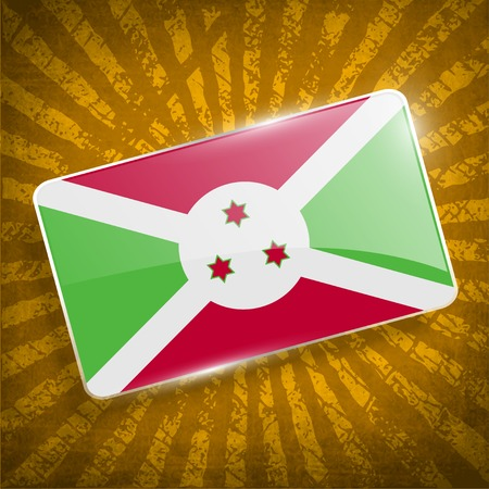 correctly: Flag of Burundi with old texture.