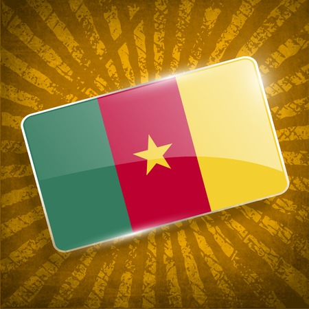 smudged: Flag of Cameroon with old texture. Vector illustration Illustration