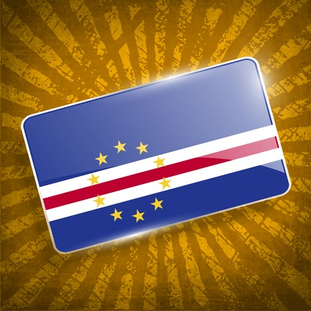 cape verde: Flag of Cape Verde with old texture.