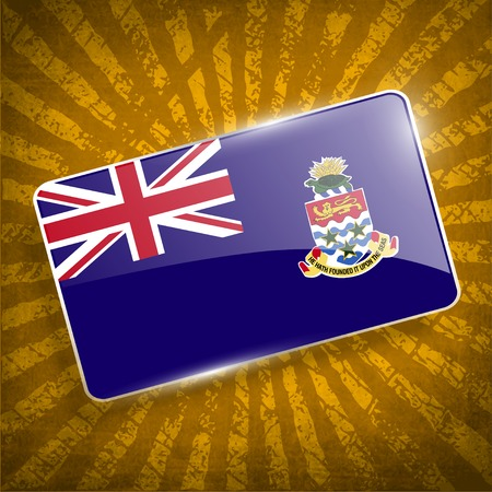 cayman: Flag of Cayman Islands with old texture.