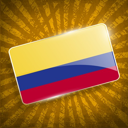 colombia: Flag of Colombia with old texture.