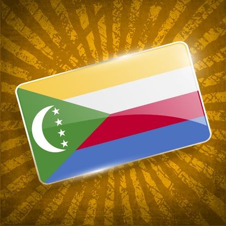 comoros: Flag of Comoros with old texture.