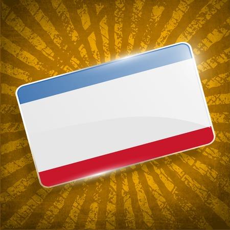 crimea: Flag of Crimea with old texture.  Illustration